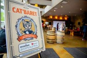 catbaret sign at city winery